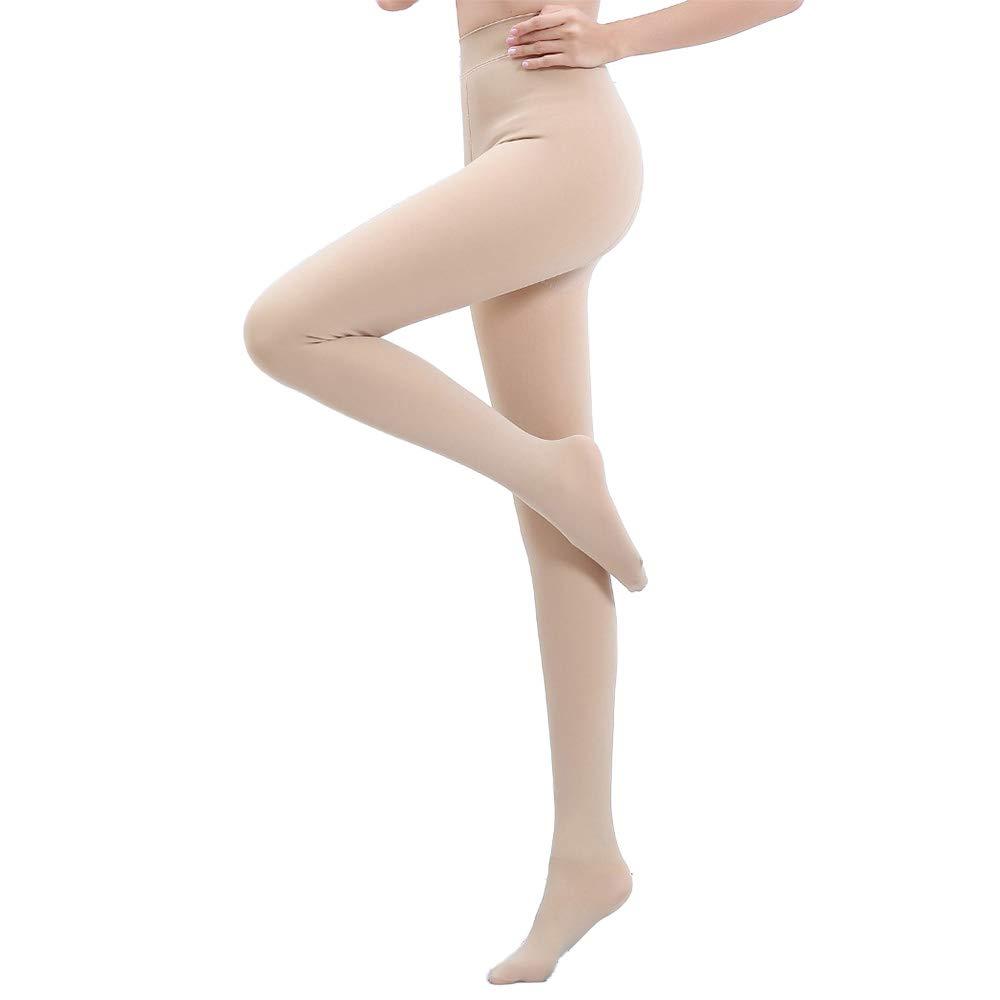 TOPTETN Automne et hiver, plus de bas de velours épais collants pieds chauds même leggings legging Bas Collants Style Chaussettes Chaussettes chaussettes noires et couleur chair femmes (Beige)