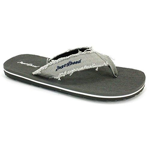 Bare Fart Menn Sandaler - Flip Flops, Pluss Størrelser 13, 14, 15, Pute Fotseng Og Fleksibel Yttersåle Grå