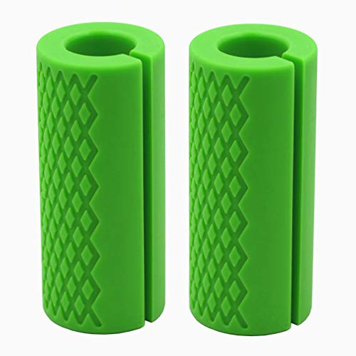 Fat Grips-Barbell Thick Bar Grips for Weightlifting 1 inch-Dumbbell Handles Stress Relieve Pair Alpha Grip Hand Protector Pull up Tape Arm Blaster Adapter for Sports Workout Rack Ergonomic. - Shrug Cable