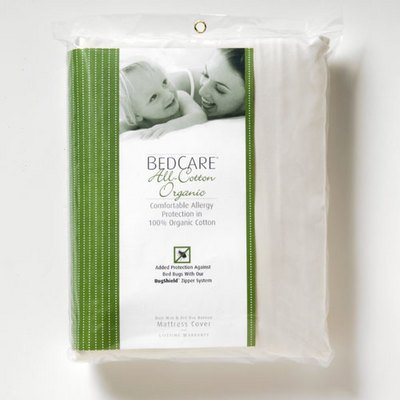 BedCare Organic All-Cotton Matt. Encasing - 12'' Deep Cal Kg