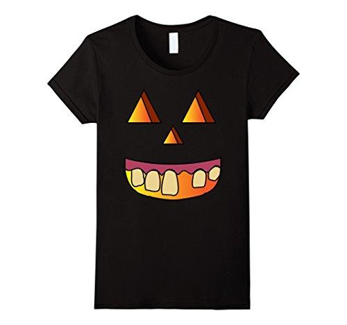 Womens Jack O Lantern Pumpkin Halloween Costume Hillbilly T Shirt Large Black (Hillbilly Halloween Costume Ideas)
