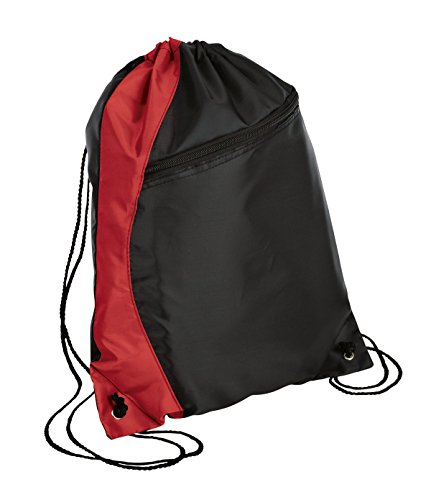 Port & Company luggage-and-bags Colorblock Cinch Pack OSFA Red/Black