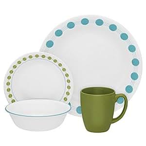 Corelle Livingware 16-Piece Dinnerware Set, South Beach, Service for 4