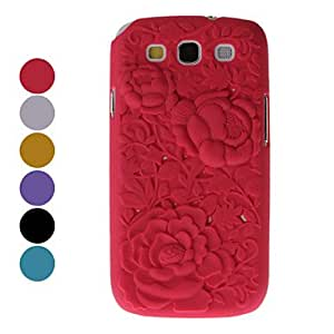 HP Rose Pattern Hard Case for Samsung Galaxy S3 I9300 (Assorted Colors) , Pink