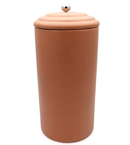 Leather Tobacco Jar - Authentic Full Grade Cow Leather - - Jar Tobacco