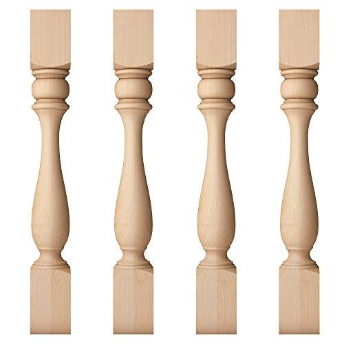 Large Vase Turned Interior Column Post 4.5