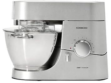 Kenwood Kmc 010 Kuchenmaschine Chef 1400 Watt Fullmenge 4 6 L Glas Mixaufsatz Silber