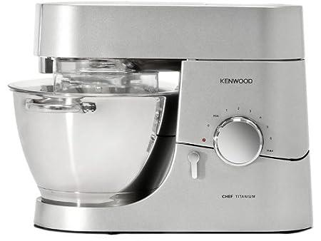 Kenwood, KMC 010, Robot da cucina Chef, 1400 W, capacità 4,6 l, con caraffa  per frullatore, Argento (Silber)