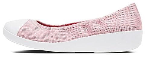 FitFlop™ Womens F-Pop™ Ballerina Flat Red Weave Size 5