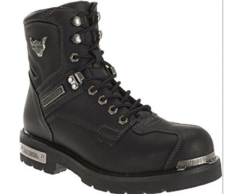 Harley-Davidson Men's Baker Black Leather Motorcycle Boots. D96083 (Black, 10.5)