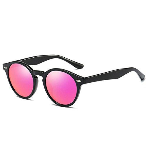 Gafas de 5 forma conducción protección gafas en lentes de unisex polarizadas sol de Mujeres PC Coolsir Ronda Marco retro UV400 de las Hombres wAqTZ
