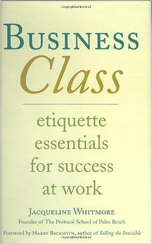 amazon com business class etiquette essentials for success at work