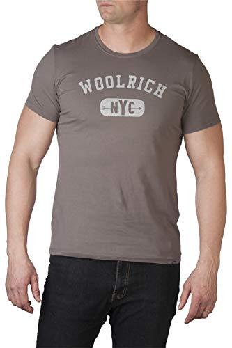 1669 Uomo dark Gull shirt Grigio Grey T Woolrich 87Oq66