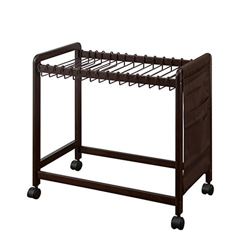 Pants Rack Landing Multiple Layers Incorporated Sort Out Movable Hanger Shelf 74.5CM 43CM 76CM by MG Coat Hooks