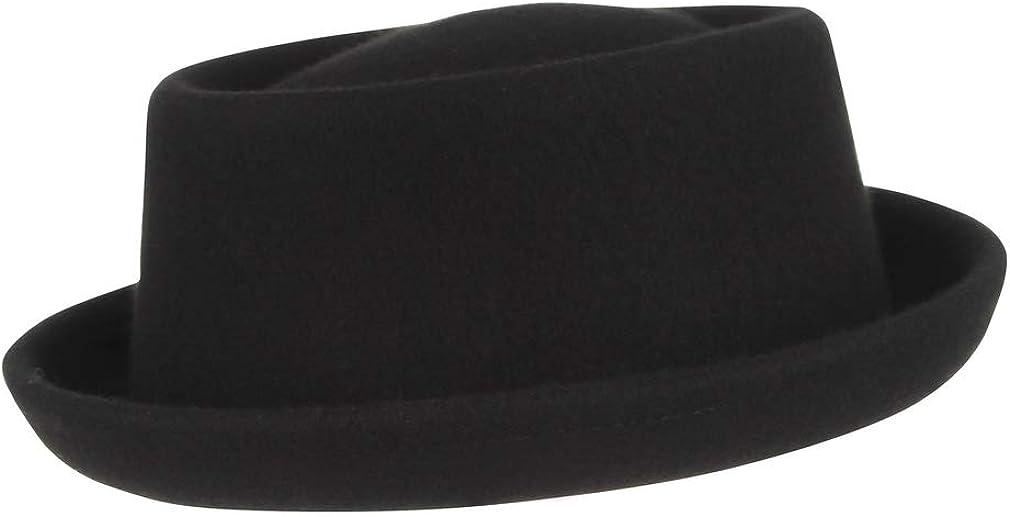 cappello da uomo e donna Fedora in feltro nero Trilby Cloud Kids Pork Pie