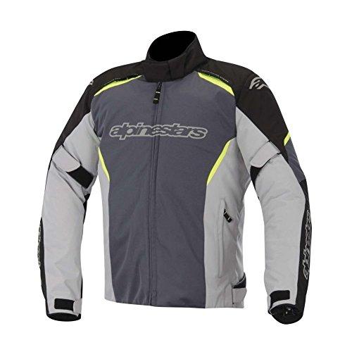 Alpinestars Gunner Waterproof Jacket, Gender: Mens/Unisex, Primary Color: Gray, Size: Lg, Apparel Material: Textile, Distinct Name: Black/Gray/Yellow 3206815-175-L