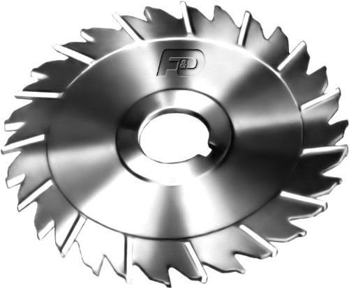 F&D Tool Company 14970-B624A Slitting Saw with Staggered Teeth, High Speed Steel, 3'' Diameter, 1/16 Width of Face, 1.25'' Hole Size by F&D Tool Company