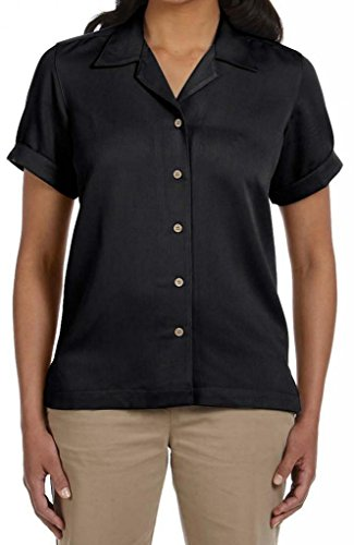 Devon & Jones Ladies Isla Camp Shirt. D670W Black ()