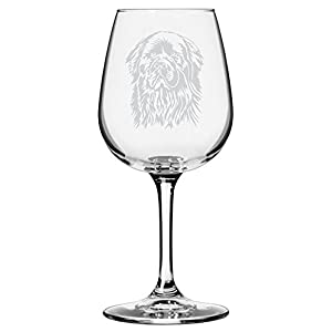 Newfoundland Dog Themed Etched All Purpose 12.75oz Libbey Wine Glass 13