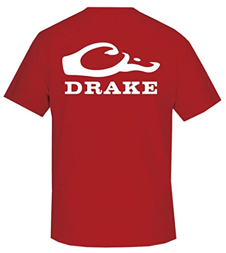 Drake Waterfowl Duck Head Short Sleeve Logo T-Shirt-Red-xl