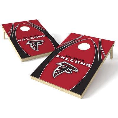 Wild Sports NFL Atlanta Falcons 2' x 3' V Logo Cornhole Game (Atlanta Falcons Nfl Bean Bag)