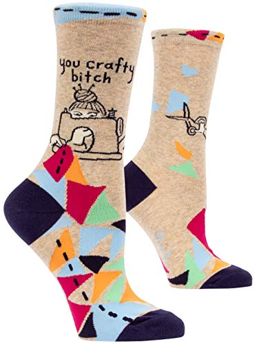Good Luck Sock Womens Counting Sheep Crew Socks Adult Shoe size 5-9 Blue