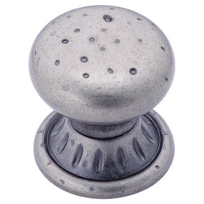 Amerock Ambrosia Euro Stone Circle 1-1/4-Inch Diameter Knob, Weathered Nickel #BP4485-WN