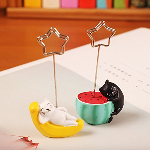 Magnetic Message Clip - 2 Pack Cute Cat Memo Clip, Photo Clip Note Clip Cards Clip Pictures Clip Tabletop Postcard Memorandum Clip Holder