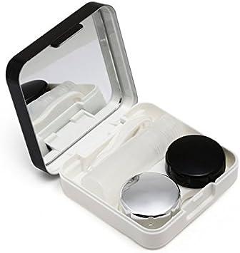 Lentillero estuche lentes de contacto negro elegante diseño kit completo viajes, gimnasio, mochila, bolso, camping, fiesta pijamas, coche, todas las edades de CHIPYHOME: Amazon.es: Salud y cuidado personal