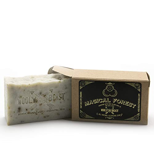 Wooly Beast Natural Handmade Vegan Soap Collection   Cruelty-Free, Artisan, Moisturizing Face, Hair, and All Over Body Soap with Essential Oils and a Wide Variety of Unique Scents - Approx 4-5 oz