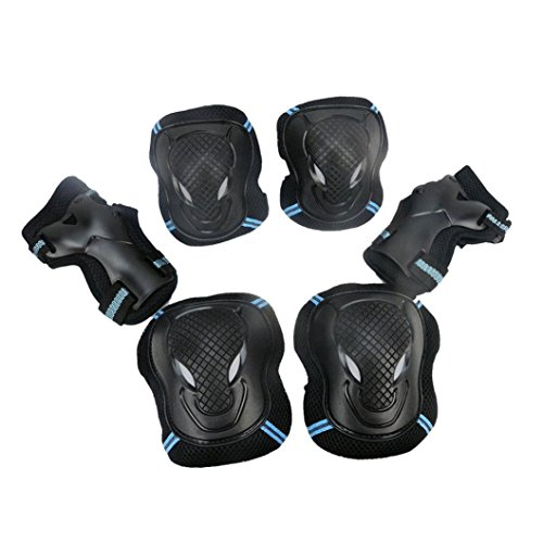 Leewos PP/ PE Materials Breathable Polyester Sleeves Impact Resistance BMX Bike Knee Pads and Elbow Pads Protective Gear for Outdoor Sport (kids/child, - Protective Gear Motorcycles