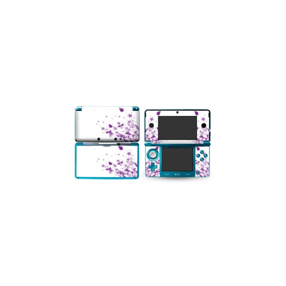 Bundle Monster Nintendo 3ds Vinyl Skin Cover Art Decal Sticker Protector Accessories   Purple Meadows