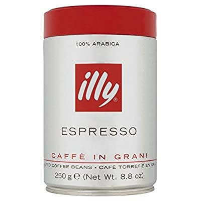 Illy Espresso Roasted Coffee Beans 250g - Pack of 2