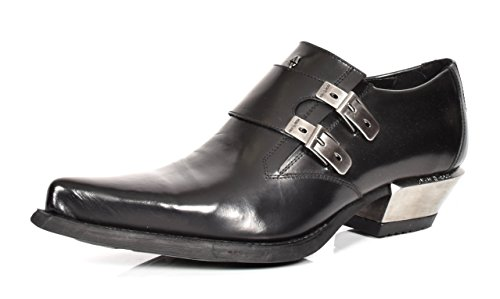 Schuhe Echtes Loafers Strap Spitzschuh Formelle Mönch Herren Smart Schwarz Leder Rock New pwPYqTx