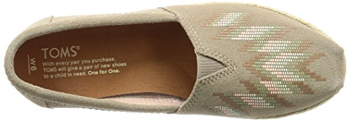 Shoes Print TOMS Desert Suede Taupe Women's Classic Zigzag qq6xOE0