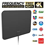 Latest 2019 HD Digital Amplified TV Antenna Long Range Support 4K 1080P All Older TV's Indoor Powerful HDTV Amplifier Signal Booster with Long Coax Cable