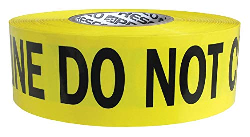 - Barricade Tape, Yellow/Silver/Black, Day/Night Visibility, 3