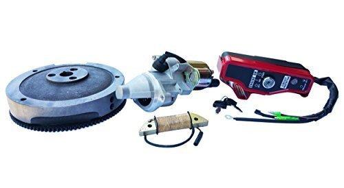 Everest Electric Starter Motor KIT for Honda GX340 GX390 FLYWHEEL Coil Ignition Box ()