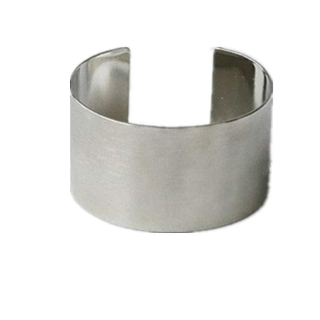 KISSFRIDAY Fashion simple personality pierced ear cuffs ear earrings jewelry gifts(silver)