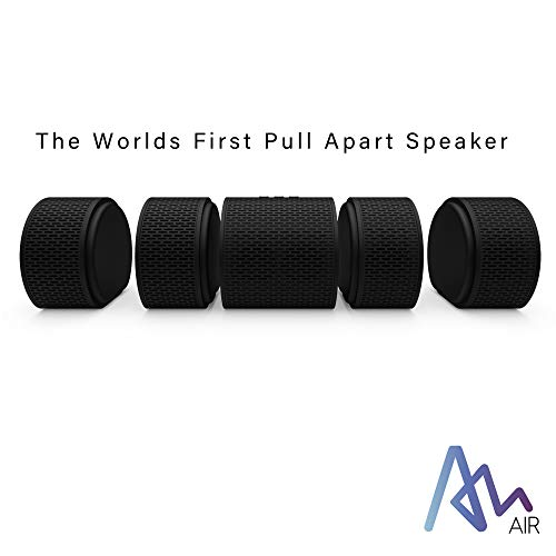 Air Audio The Worlds First Pull-Apart Wireless Bluetooth Speaker Portable Surround Sound and Multi-Room Use, Black
