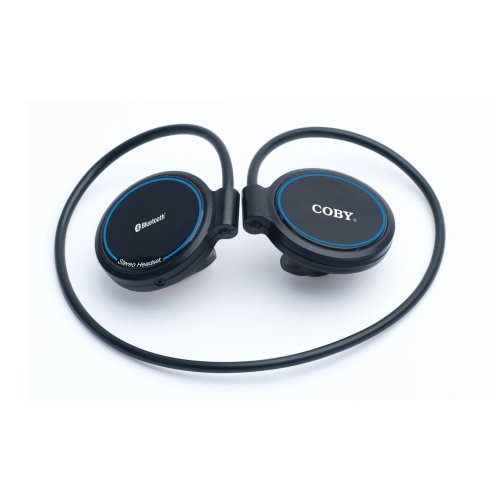 Coby Bluetooth Wireless Behind the Neck Stereo Headphones with Dongle CV290 ( Black) (Discontinued by Manufacturer)