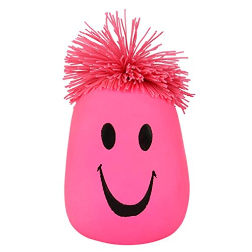 Moody Face - Stress Reliever, Woshishei Super Stretchy Moody Face Stress Ball Smile Face Squeeze Toy Time Killing Toy (Pink)