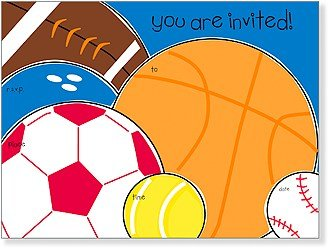 SanLori Designs Sports Fan Invitations - 8 ct