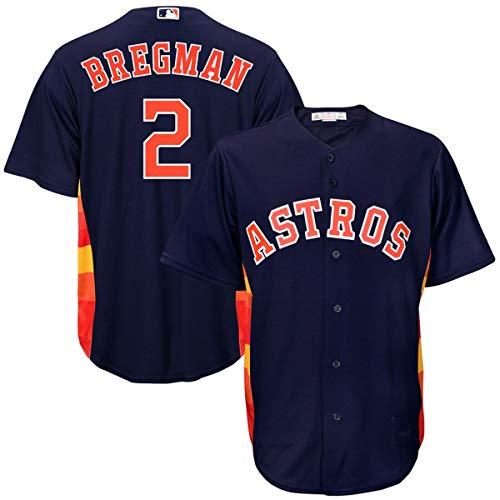 Mitchell & Ness Men's Houston Astros #2 Alex Bregman Cool Base Player Jersey Navy