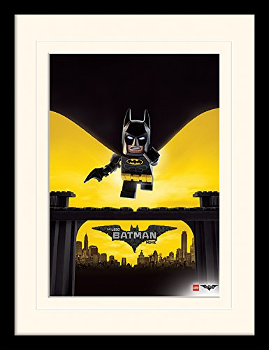 LEGO Batman Movie Poster Mounted and Framed Print, Multi-Colour, 30 ...
