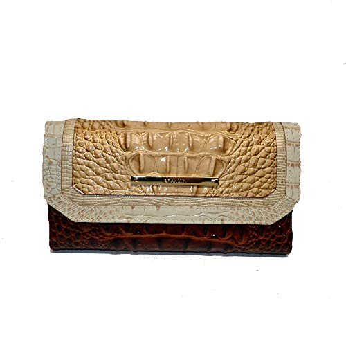 Brahmin Soft Checkbook Wallet Clutch Honeycomb Leroy