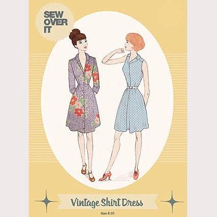 The Vintage - Patrón de costura para vestido de camisa para ...