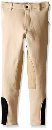 Devon Aire Girls Classic Cotton Show Breeches, 8, Beige