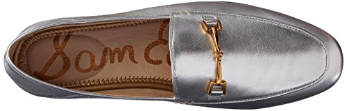 Leather Edelman Flats Metallic Silver Loriane Women's Sam Loafer Oqx6FpFw