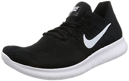 Nike Men's Free RN Flyknit 2017 Running Shoe Light Carbon/Obsidian Black/Black/Dark Grey/White 10 D(M) US